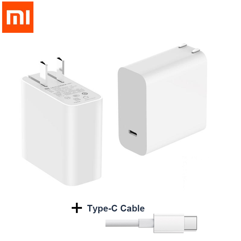 Original Xiaomi USB C 45W 65W Quick Charger Output Type C Port USB PD 2.0 QC 3.0 Power adapter Mi laptop air 13.3 12.5 pro 15.6-in Mobile Phone Chargers from Cellphones & Telecommunications