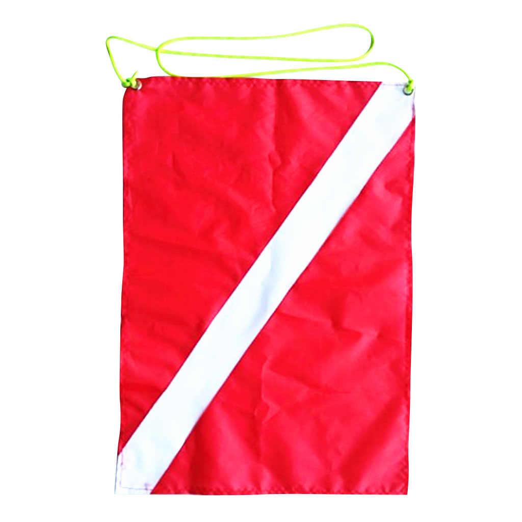 Dalış dalgıç aşağı bayrağı tüplü bayrağı tekne bayrağı güvenlik dalış sinyal aksesuarları