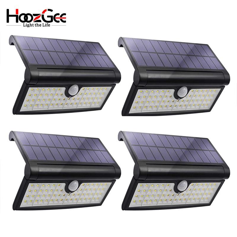 HoozGee Solar Wall Light Outdoor Garden Super Bright 58 LED Motion Sensor Lights Porch Security Lamp