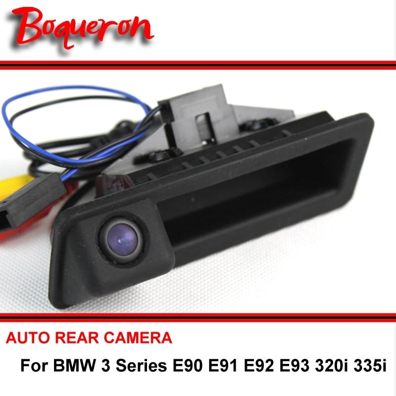 트렁크 핸들 BMW 3 시리즈 E90 E91 E92 E93 320i 335i 리버스 카메라 HD CCD RCA NTST 자동차 후면보기 카메라 무선