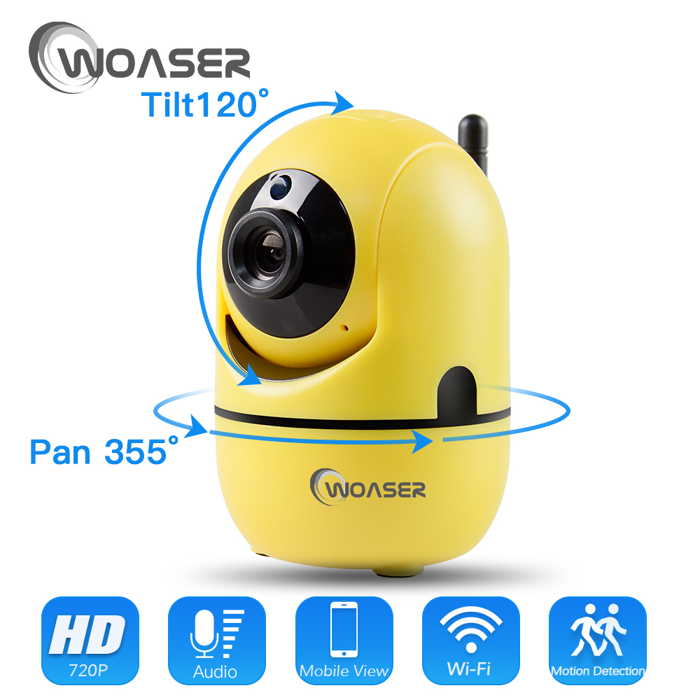 WOASER IR-Cut Night Vision Two Way Audio 1.0MP WIFI IP Camera Wireless HD 720P PTZ CCTV Surveillance Camera P2P Cloud Mobile APP
