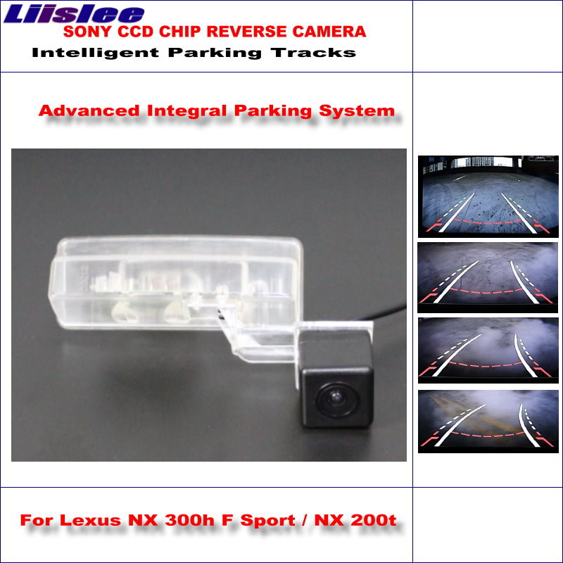 Liislee Intelligent Parking Tracks Rear Camera For Lexus NX 300h F Sport NX 200t Reverse Backup Camera NTSC CCD in Vehicle Camera from Automobiles Motorcycles