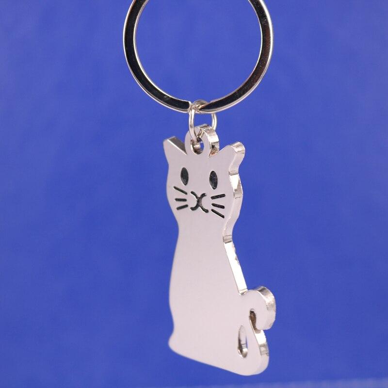 Nova moda modelo criativo gato chaveiro popular versátil metal chaveiro chaveiro chaveiro do carro