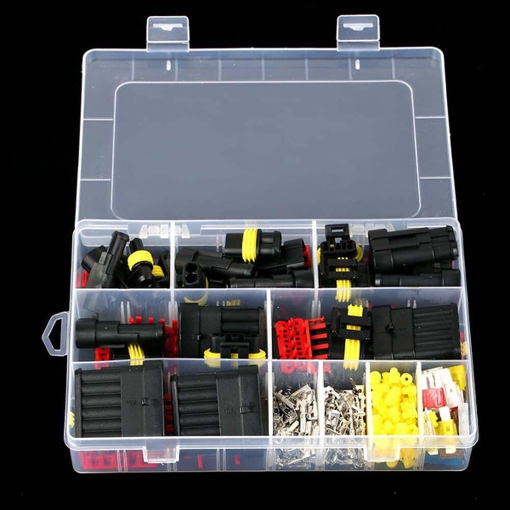240 pçs pino múltiplo carro à prova dwaterproof água conector de fio terminal elétrico fusíveis @ 8 wwo66