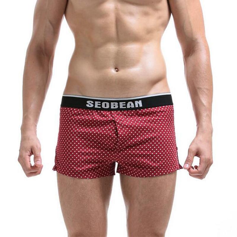 KWAN.Z male underwear dot printed cueca boxer men cotton underwear men brand boxer homme masculina cool ropa interior hombre