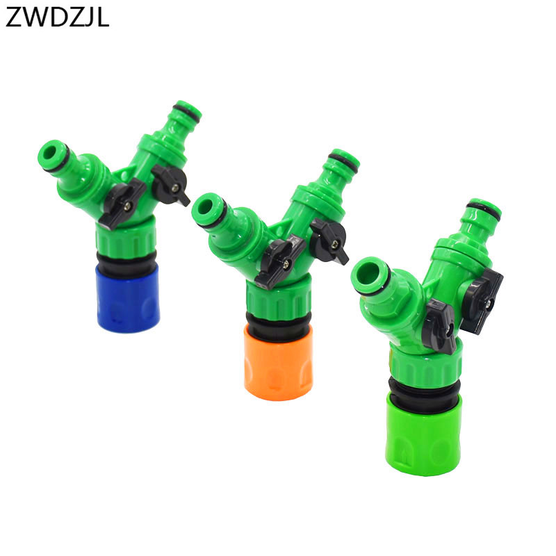 Irrigation 2 Way Tap Garden Tap Irrigation Valve Hose Pipe Splitter 2 Way Quick Connector Adapter 1pcs