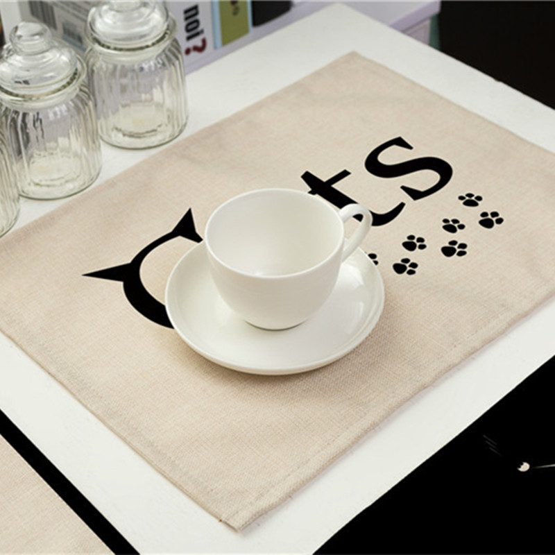 Cute Cat Printed Dining Table Mat Insulation Non Slip Table Cloth Placemats  Disc Pads Bowl Tableware Pad Coaster Coffee Cup Pad In Mats U0026 Pads From  Home ...