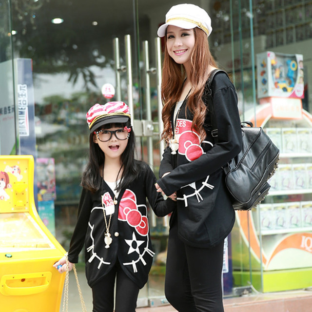 Mother And Daughter Matching Clothes Family Fashion Uniform Shirts Matching Outfits Cotton Jacket Clothing For Girls And Mother