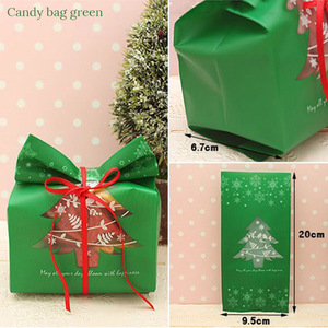 Image 5 - 20pcs Christmas Gift Bags Package Bag Xmas Gift Decor Christmas Tree Candy Gift Bag Navidad Christmas Decorations for Home