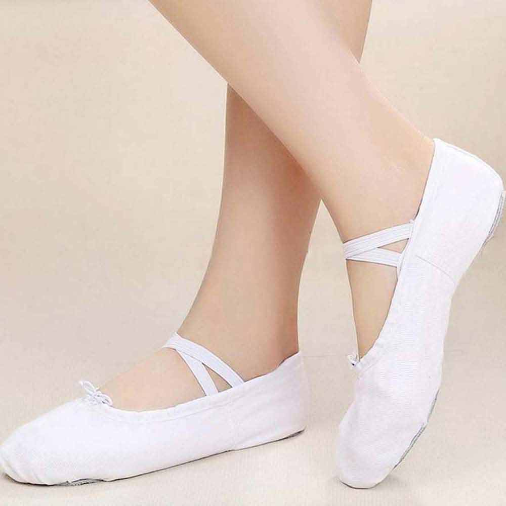Children girls white canvas dance shoes boys girls general dance shoes ballet shoes