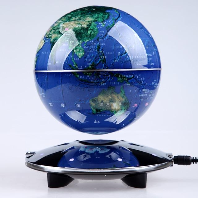 High Tech Magnetschwebebahn Globus Licht Rotation Kreative