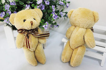 1pcs Cute Soft Plush Stuffed Mini BrownTeddy Bear Doll  for $3.99 1