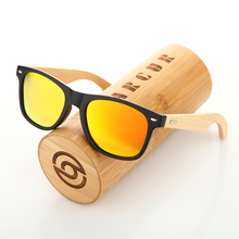 Barcur дерево Солнцезащитные очки PC Рамка ручной бамбука Солнцезащитные очки Для мужчин деревянный Защита от солнца Очки для Для женщин porized Óculos De Sol masculino