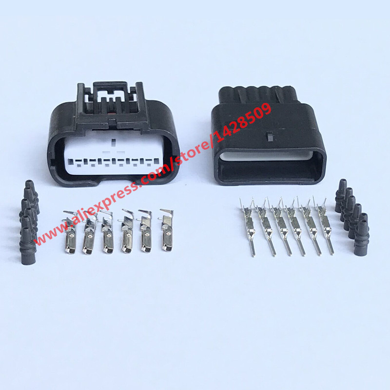 10 Sets 7287 1380 30 Female Male 6 Pin Electrical Accelerator Pedal Sensor Connector Auto Plug