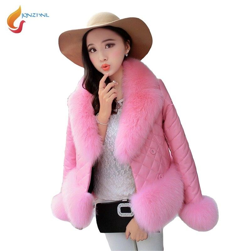 Jqnznl Nouveau Hiver Courtes L271 Femmes De Camel En Fourrure pink Épaississent black grey Vestes Cuir Casual Collar Dames Fausse Black Grand 2018 Mode Survêtement Col rqpCw5r