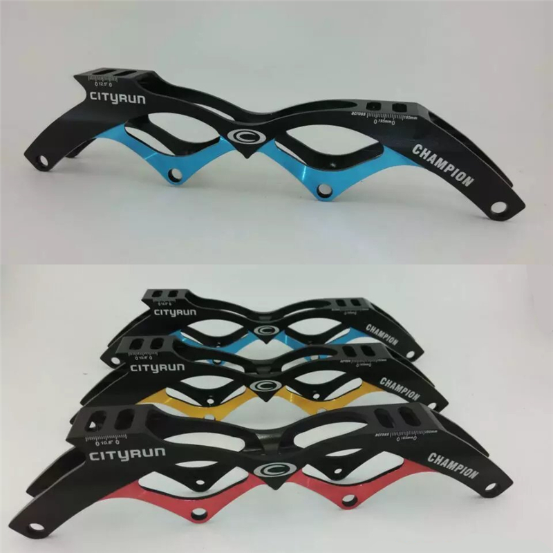 Super Light Indoor Track Racing Long Trace Field Inline Speed Racing Skating Frame Golden Blue Red