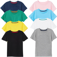 2019 New Summer Boy Girl Cotton Tshirt Children's T Shirts Short Sleeve Boys T Shirt Baby Girl Clothes For 2-8 Years цена и фото