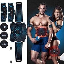EMS stymulator mięśni przyrząd do treningu mięśni brzucha stymulacja elektryczna wibracyjny wibracyjny wibracje maszyna wyszczuplająca do ciała do ćwiczeń w domu