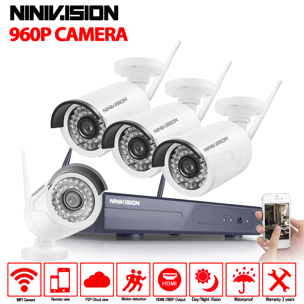 Home Security Camera CCTV System Wireless DVR 4CH IP CCTV Kit HD 960P P2P IR Night Vision Plug Play Video Surveillance Wifi Kit Home Security Camera CCTV System Wireless DVR 4CH IP CCTV Kit HD 960P P2P IR Night Vision Plug Play Video Surveillance Wifi Kit