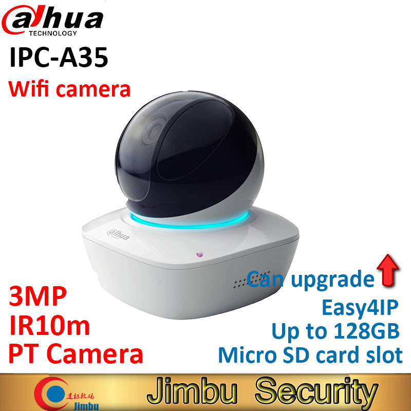 Dahua 3MP wifi Easy4ip IP PT Camera IPC-A35 IR10m indoor baby monitor with Micro SD card slot up to 128GB COMS cctv camera цены онлайн