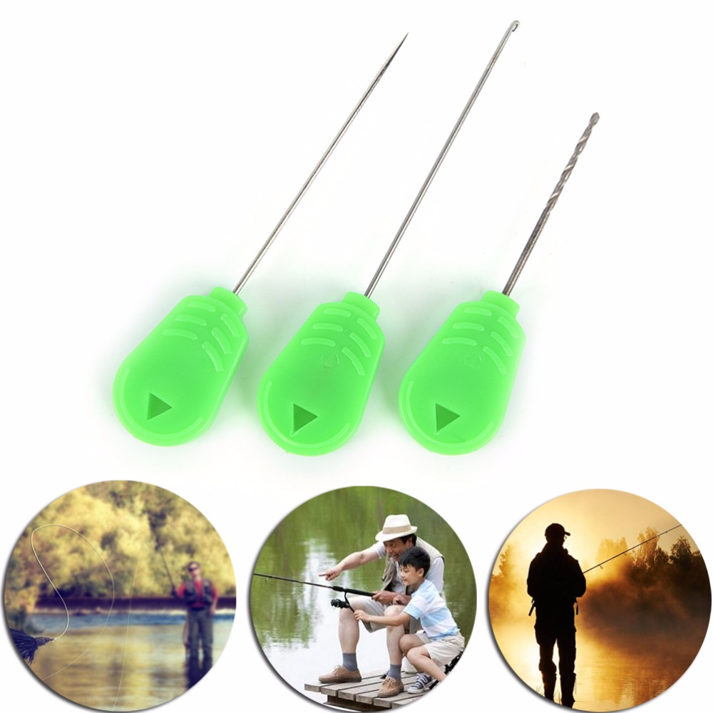 3 Pcs Splicing Needles Knot Puller Drills Tackle Kits Spod Rocket Bomb Carp Fishing Popular Bait Needles Hair Rigs Making Tools To Be Renowned Both At Home And Abroad For Exquisite Workmanship, Skillful Knitting And Elegant Design