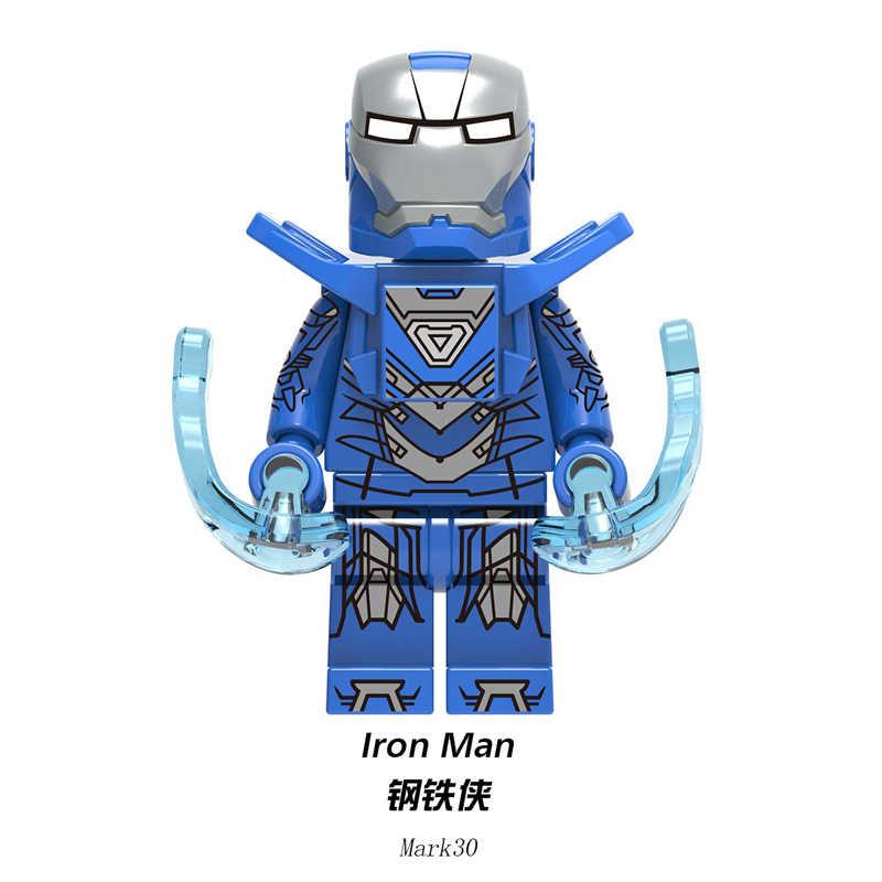Tijolos de Blocos de construção de Super Heróis Homem De Ferro Tony Stark Mark Mark 30 24 Mark 28 Figuras Brinquedos Presente Para As Crianças XH1223