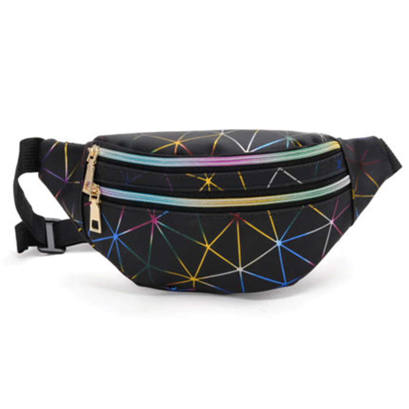 Women Banana Waist Pack Waterproof Waist Belt Bag Female Holographic Fanny Pack Travel Chest Bags Mini Coin Purse Phone Bag 2019