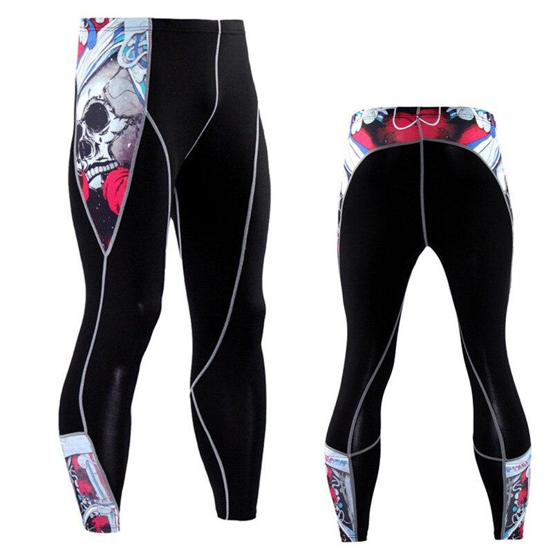 Для мужчин компрессионные колготки Леггинсы для женщин Run бег спортивный зал Фитнес тренировки Crossfit мужской MMA брюки Фитнес Quick Dry Штаны