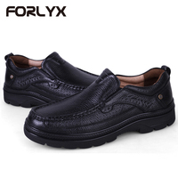 FORLYX Genuine Leather Men Flats Shoes Casual Shoes Men Big Size 37 49 Men Loafers Moccasins