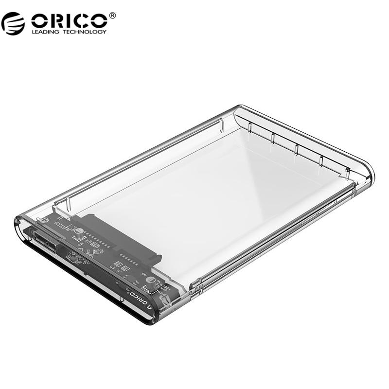 ORICO 2139U3 Hard Drive Enclosure 2.5 inch Transparent USB3.0 Hard Drive Enclosure Support UASP Protocol orico cd rom space internal 3 5 inch sata3 0 hdd frame mobile rack internal hdd case [support uasp protocol