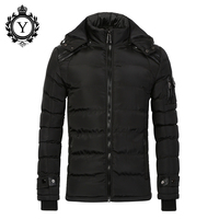 COUTUDI 2016 Warm Jackets For Men Cotton Black Puffer Down Jacket Waterproof Plus Size Big Men