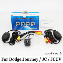 Car Camera For Dodge Journey / JC / JCUV 2008~2016 / RCA Wire Or Wireless / HD Wide Lens Angle CCD Night Vision Rear View Camera