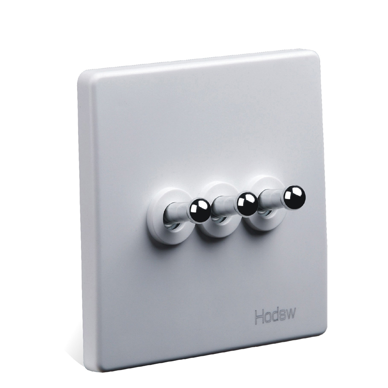 Interruptor Da Tomada de Parede em casa, 86 Escondido Branco Retro, três Interruptor de Controle Duplo Painel, PC 220 V 10A