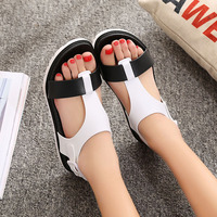 Summer Women Sandals Bohemia High Flat Comfortable Beach Sandal Flip Flops Casual Shoes Sandals Women 2017