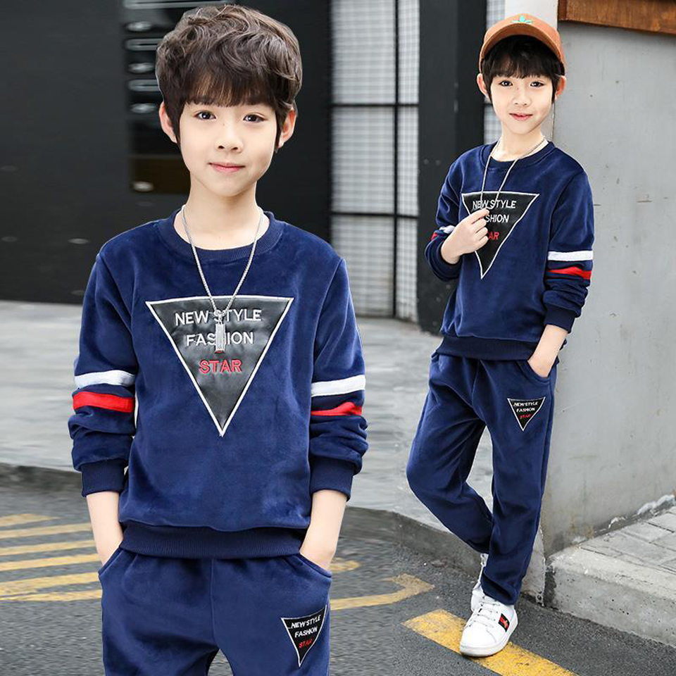 Sport Suits Teenage Autumn Boys Clothing Sets Full Sleeve T Shirt & Pants Casual 3 4 5 6 7 8 9 10 12 Years Child Boy Clothes