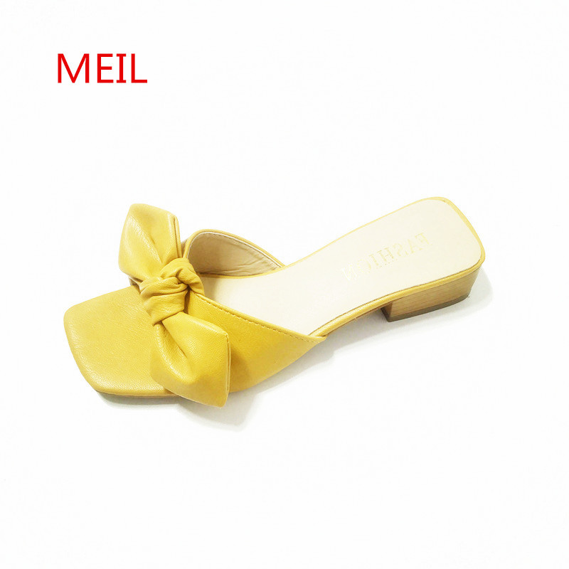 Slippers Women Summer Leather Flip Flops Female Shoes Bow Wither Slides Ladies Slippers Shoes Flip Flop Flat Shoes Women Chinelo pink bow slippers women hot spring flower home cotton plush indoor floor flip flops flat shoes pantuflas pantofole donna chinelo