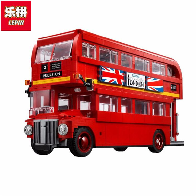 Lepin 21045 1716Pcs Genuine Technic Series The London Bus Set 10258 Building Blocks Bricks Children Educational Toys Model Gifts lepin 21045 united kingdom britain london double decker bus building kit blocks bricks toy for gift 10258