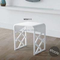 Bathroom solid surface stone stool use for sauna rooms and shower enclosures bathing chair wd111