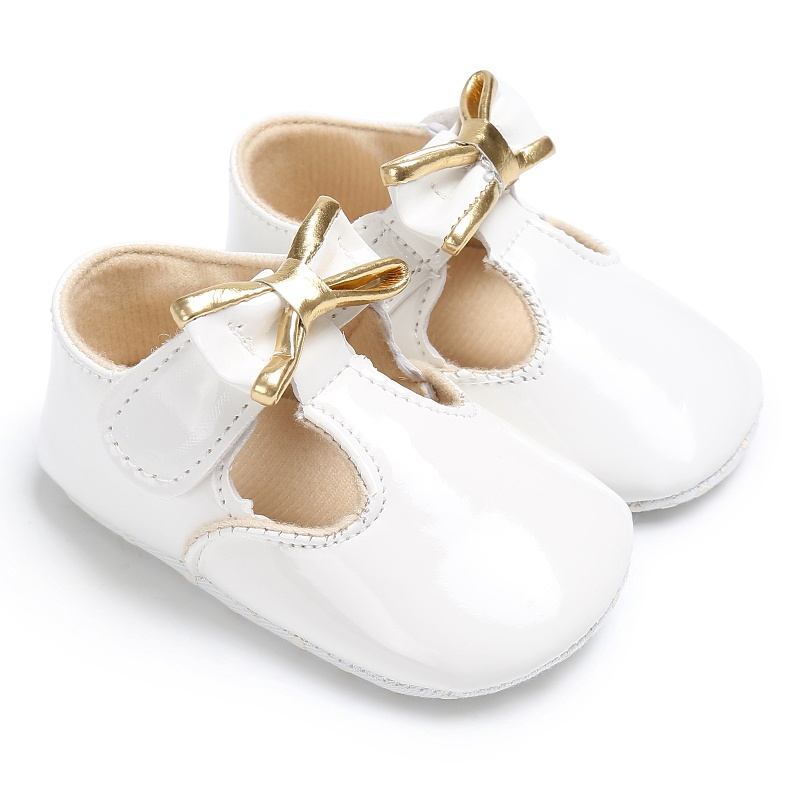Summer PU Newborn Baby Girl Shoes First Walkers Princess Non-Slip Soft Sole Infant Child Toddler Shoes