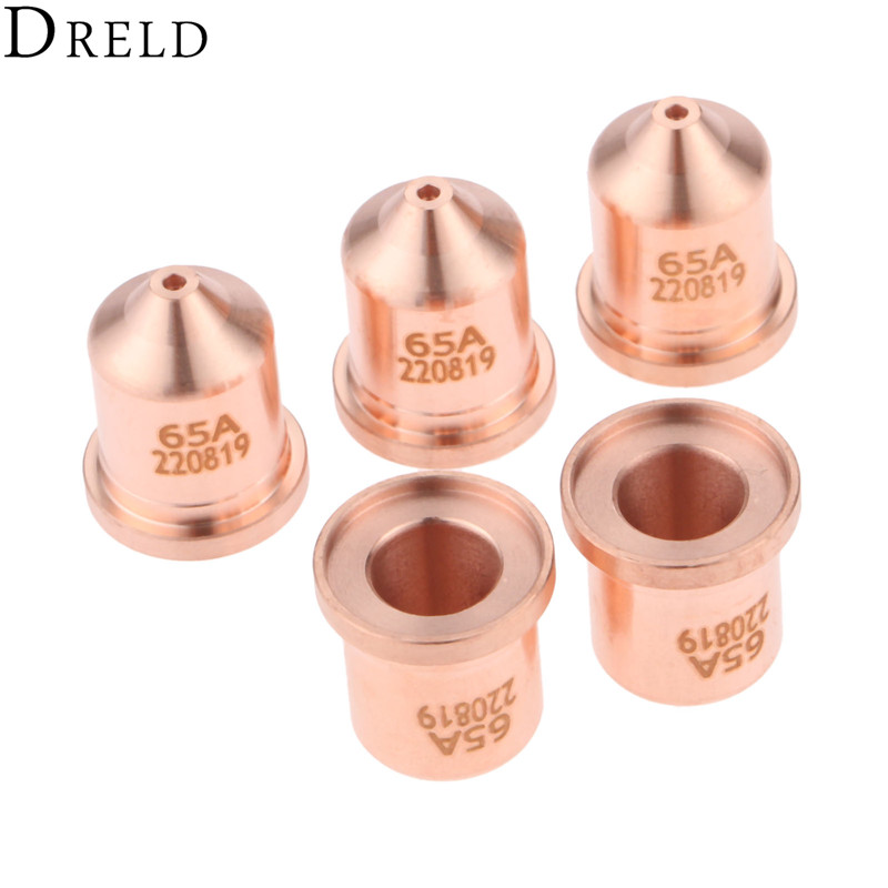 DRELD 5pcs 65A Nozzle 220819 for 65 85 105 125 Plasma Cutting Torch Consumables Standard Processes Welding & Soldering Supplies Price $18.56
