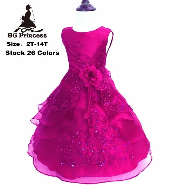 Comprar ahora Al por mayor Hg princesa 2-14 año fiesta Bordado ...