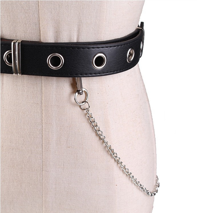 HTB1kaeAcMTqK1RjSZPhq6xfOFXaC - Newest Design Detachable Waist Belt Chain Punk Hip-hop Trendy Women Belts Lady Fashion silver Pin Buckle leather Waistband Jeans