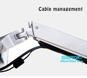 Image 5 - Suporte ultrafino de parede, suporte para monitor de braço mecânico, liga de alumínio, suporte para monitor de movimento completo, suporte de montagem