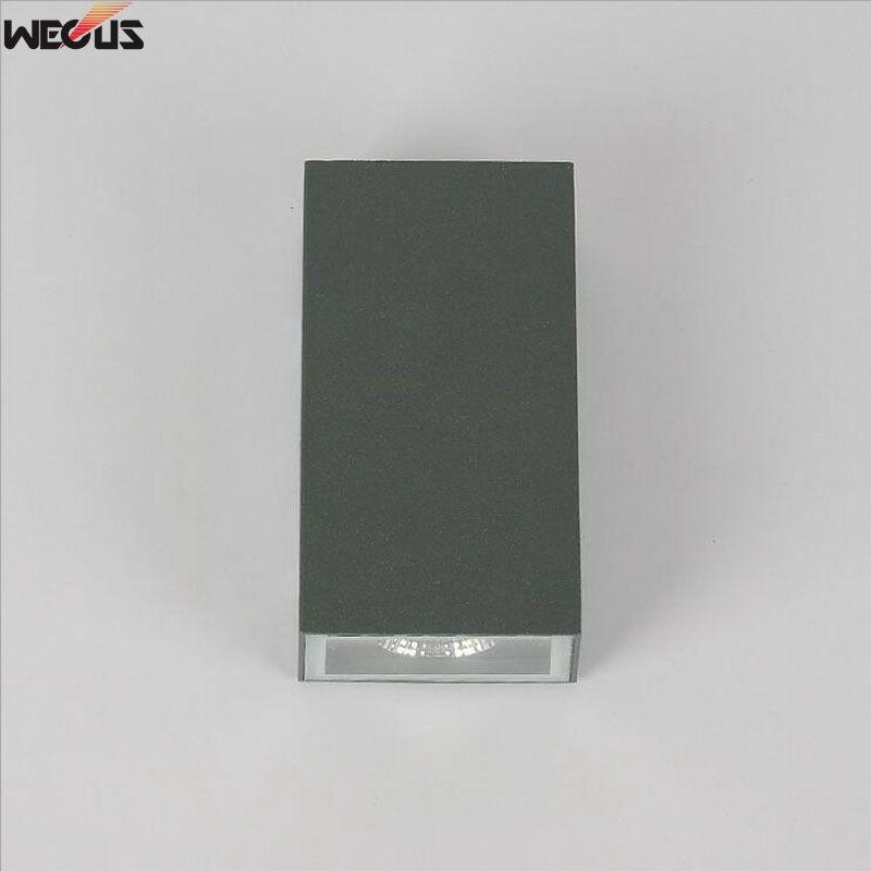 Ontwerper aanbevolen, moderne eenvoudige waterdichte aluminium wandlamp. Gangpad LED wandlamp voor buiten gang