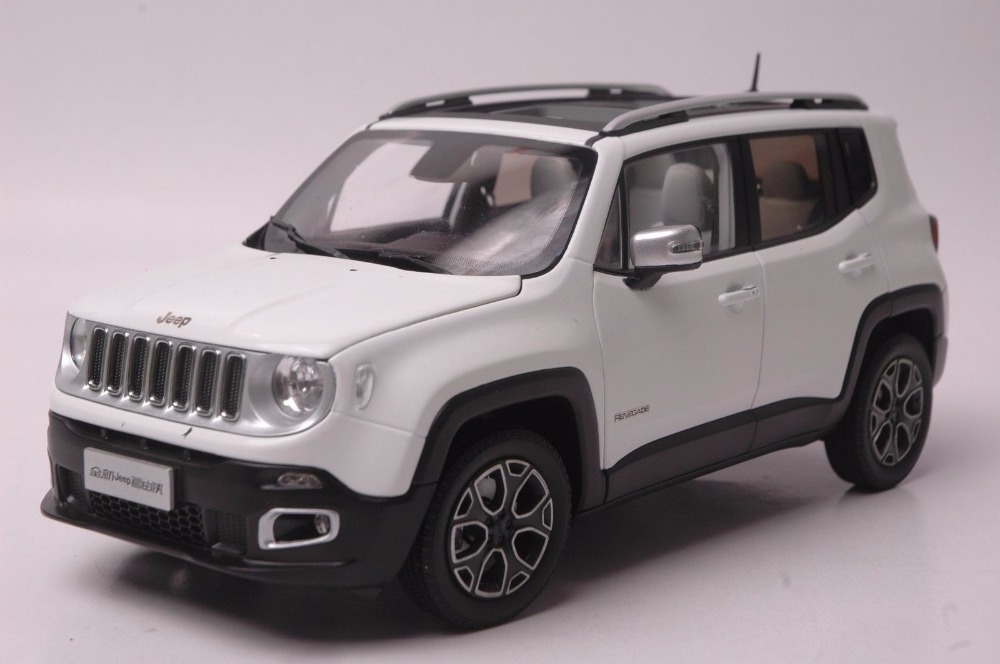 1:18 Diecast Model for Jeep Renegade 2016 White SUV Alloy Toy Car Miniature Collection Gift 1 18 vw volkswagen teramont suv diecast metal suv car model toy gift hobby collection silver
