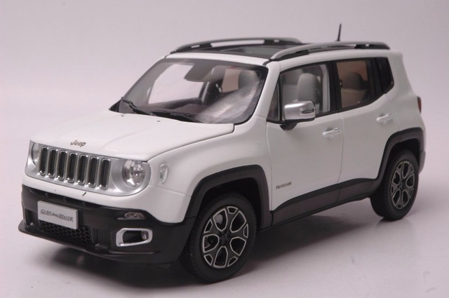 1 18 Cast Model For Jeep Renegade 2016 White Suv Alloy Toy Car Miniature Collection