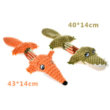 HELLOMOON Fashion Long tailed Orange Fox Green Crocodile Dog pet bite vocal wear-resistant bite-resistant dogs toys pets