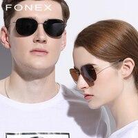 Titanium Alloy Polarized Rimless Sunglasses Men Brand Designer Ultralight Screwless Frameless Korea Sun Glasses for Women 9616