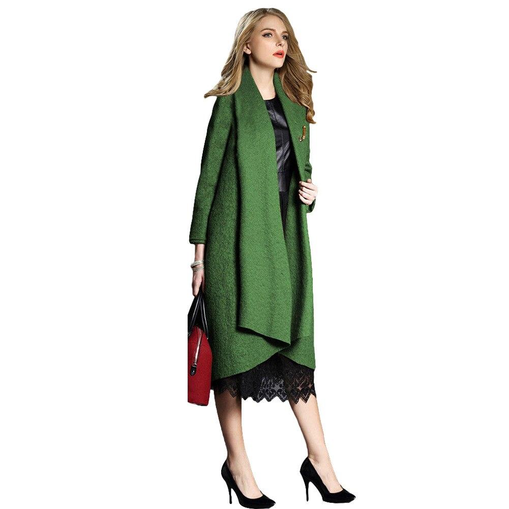 Long Femmes 2018 Photo As bleu vert Manteau De Unie Laine Et Paragraphe Européenne Station Grande Taille Cardigan Couleur Américaine rouge Lâche bgyIf67mYv
