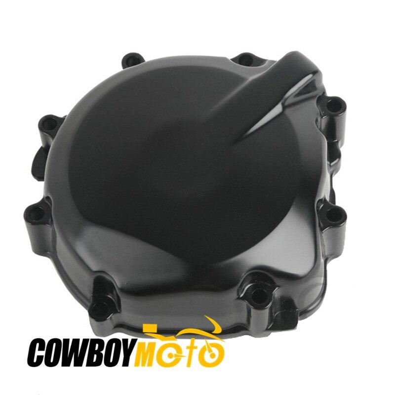 Мотоцикл черный Двигатель статора Крышка картера чехол для Suzuki GSXR600 2000 - 2003 GSXR750 01-03 алюминия